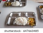 meal of prisoners in prison in... | Shutterstock . vector #647663485