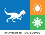 set of 3 scary filled icons   Shutterstock .eps vector #647668909