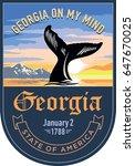 georgia state emblem  whale ... | Shutterstock . vector #647670025