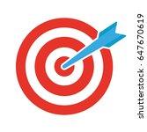 vector target icon | Shutterstock .eps vector #647670619