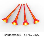 3d Illustration Of Vuvuzela....