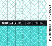 Turquoise Moroccan Lattice...