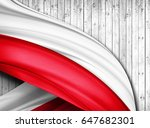 Poland Flag Of Silk With...