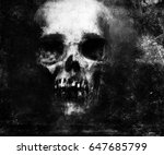 scary grunge skull wallpaper.... | Shutterstock . vector #647685799
