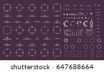 circle and square wicker...   Shutterstock . vector #647688664
