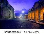antigua guatemala cityscape | Shutterstock . vector #647689291