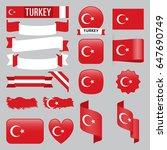 set of turkey maps  flags ...   Shutterstock .eps vector #647690749