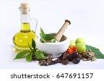 Ayurvedic Oil In Glass Bottle...