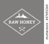 vector logo template for honey... | Shutterstock .eps vector #647692264