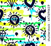 Vector Tags Seamless Pattern....