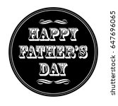 happy father's day ornate... | Shutterstock .eps vector #647696065