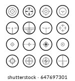 cross hair icons | Shutterstock .eps vector #647697301