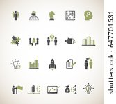 business training icons set | Shutterstock .eps vector #647701531