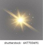 glow light effect. star burst... | Shutterstock .eps vector #647703691