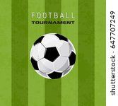 football tournament poster... | Shutterstock .eps vector #647707249