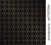 golden vintage seamless pattern ... | Shutterstock .eps vector #647707594