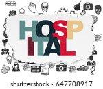 medicine concept  painted... | Shutterstock . vector #647708917