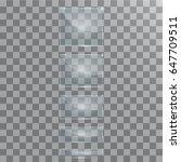 vector modern transparent glass ... | Shutterstock .eps vector #647709511