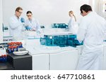 group of scientists working... | Shutterstock . vector #647710861