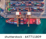 container ship in import export ... | Shutterstock . vector #647711809