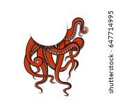 vector illustration art red...   Shutterstock .eps vector #647714995