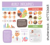 allergy infographics symptoms...   Shutterstock .eps vector #647732665