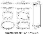 set of swirl frames | Shutterstock .eps vector #64774267