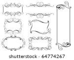 set of swirl frames | Shutterstock .eps vector #64774267