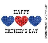bandana hearts fathers day | Shutterstock .eps vector #647744839