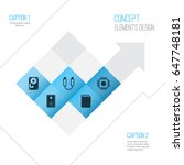 computer hardware icons set.... | Shutterstock .eps vector #647748181