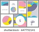 set of creative universal... | Shutterstock .eps vector #647752141