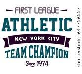 graphic design first league... | Shutterstock .eps vector #647756557