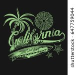 california surfer .surfboards... | Shutterstock .eps vector #647759044