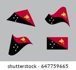 flag of papua new guinea ...   Shutterstock .eps vector #647759665