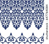 vector floral seamless border...   Shutterstock .eps vector #647764084
