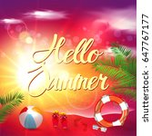 summer   Shutterstock .eps vector #647767177