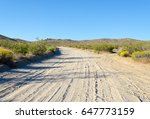 Isolated Dirt Road In The...
