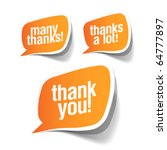 thank you   grateful bubbles.... | Shutterstock .eps vector #64777897