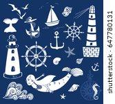 seaside graphic elements ... | Shutterstock .eps vector #647780131