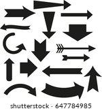 vector set of arrows | Shutterstock .eps vector #647784985