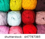 various colors threads on rows... | Shutterstock . vector #647787385