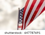 american flag close up  | Shutterstock . vector #647787691