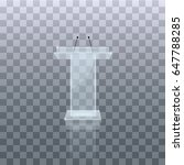 transparent podium tribune... | Shutterstock .eps vector #647788285