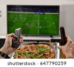 watching the football game... | Shutterstock . vector #647790259