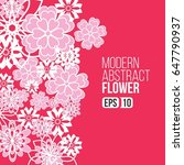modern abstract flowers for... | Shutterstock .eps vector #647790937