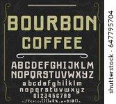 font handcrafted vector script... | Shutterstock .eps vector #647795704