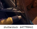 removal of tinted foam from the ... | Shutterstock . vector #647798461
