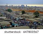 slum in angola  africa. capital ... | Shutterstock . vector #647803567