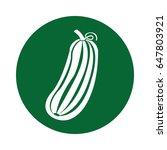 cucumber fresh vegetable icon | Shutterstock .eps vector #647803921