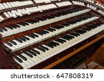 Pipe Organ Keyboards Closeup...